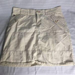 Tommy Hilfiger Womens Khaki Mini Skirt Sz 9 A Line